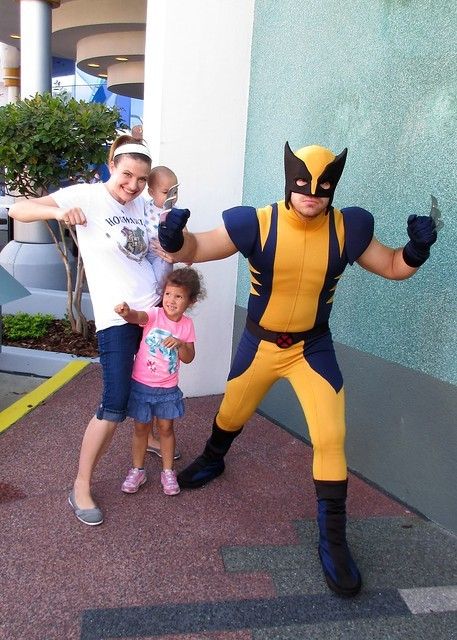 Wolverine visits little girls birthday