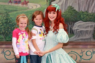 Princess Ariel at little girls 5th birthday party