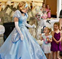 Cinderella at princess party