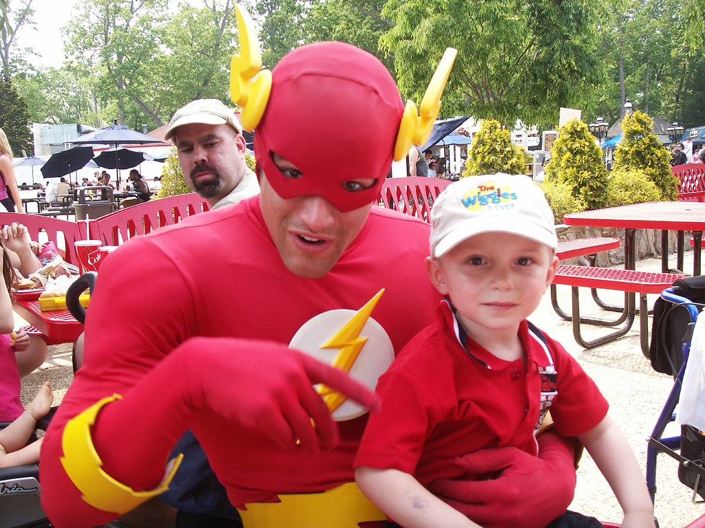 Flash to the rescue at kids birthday party
