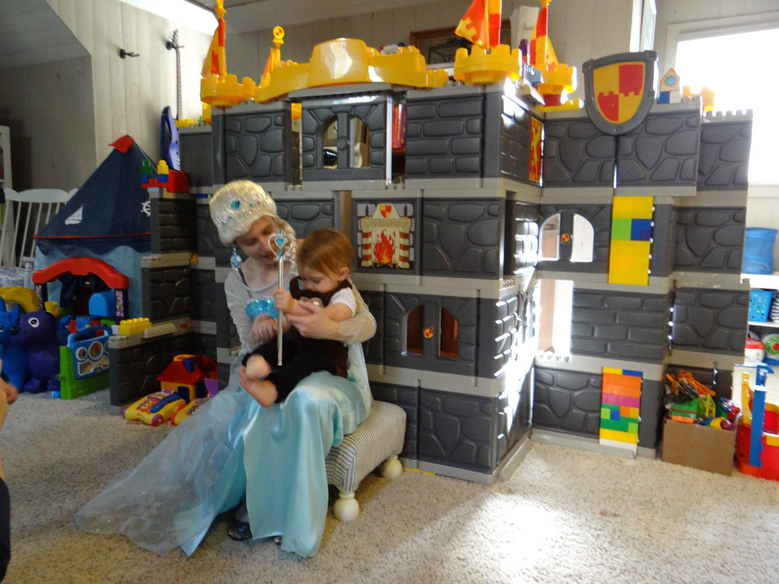 frozen princess visits castle birthday party