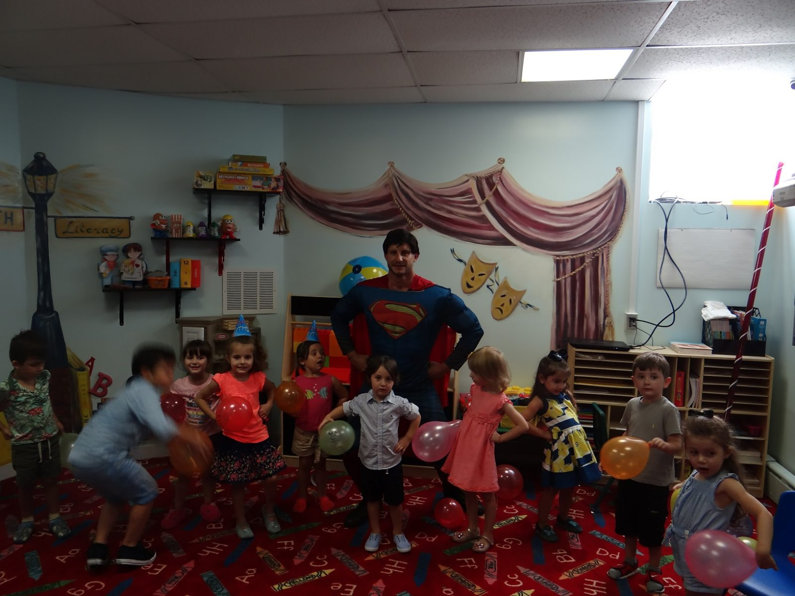 Super Man school birthday party