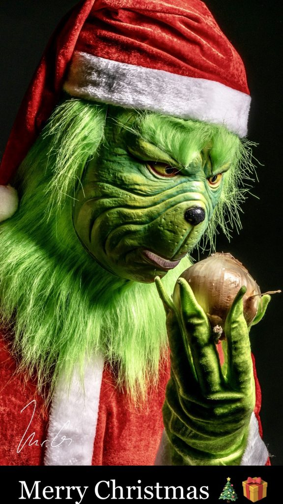awesome grinch shot Merry Christmas Bah Humbug