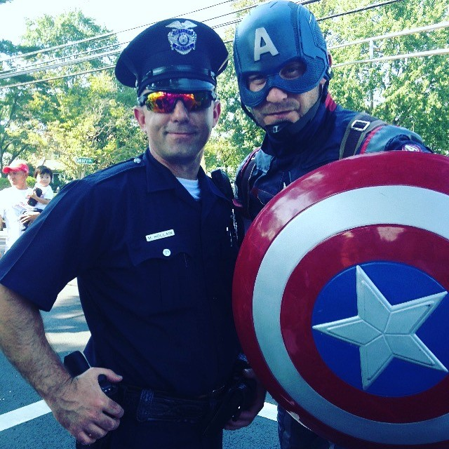 Captain America and south plainfield police