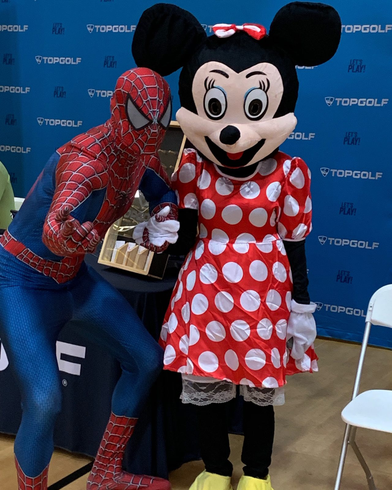 Spider Man and Minnie Mouse