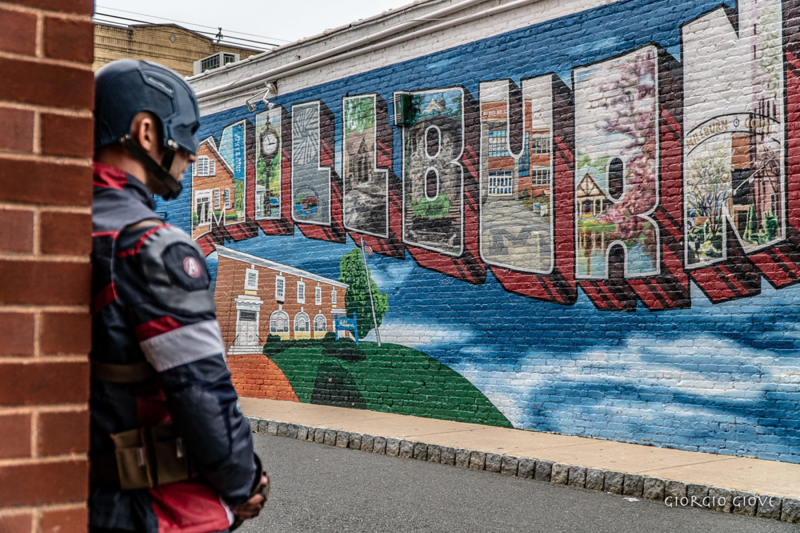 Captain America visits Millburn