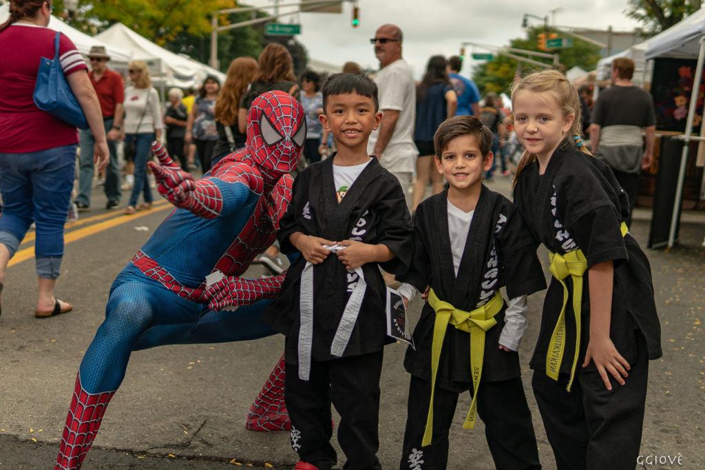 Spider Man and Karate team