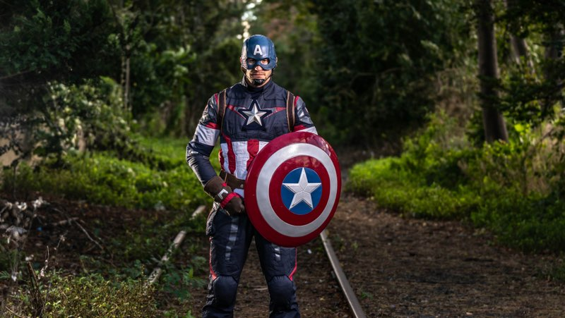 Captain America shoot