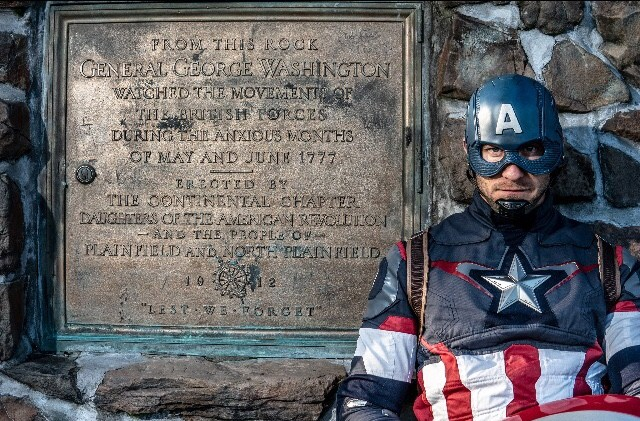 Captain America pays respect