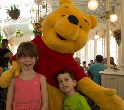 Whinnie The Pooh comes to birthday party and has fun with kids