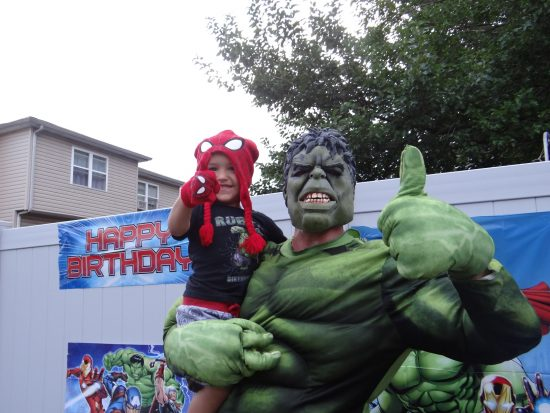 Incredable Hulk Birthday party