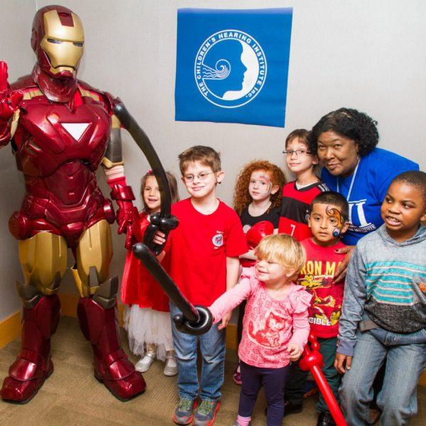 Iron Man saves the day at kids ^th birthday party