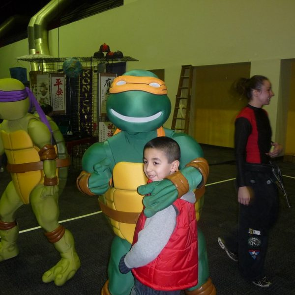 Ninja Turtles like to party