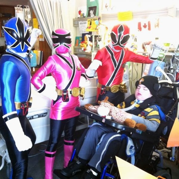 Power Rangers hosiptal visit