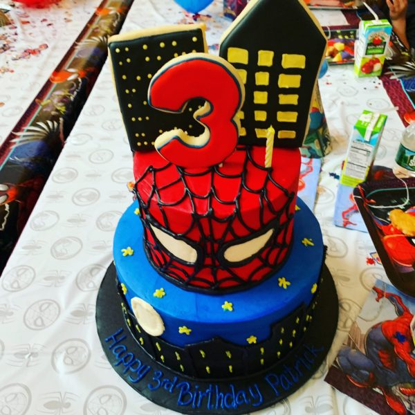 3 rd old spider man birthday cake