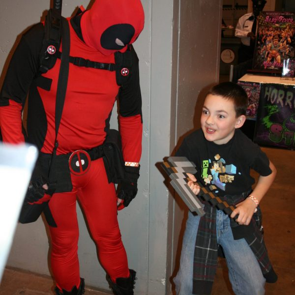 Dead Pool at kids 7th birthday party
