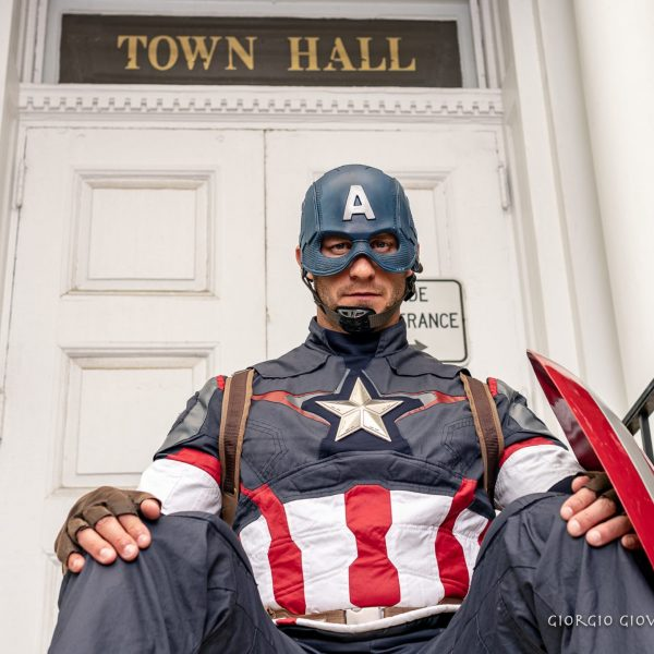 Captain America at Town Hall
