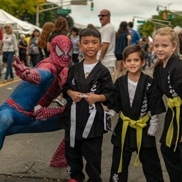 Spider Man and Karate team