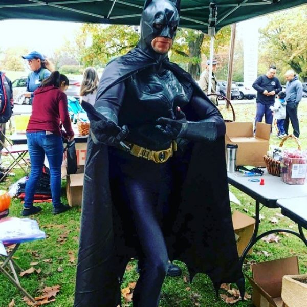 Batman at walk a thon charity