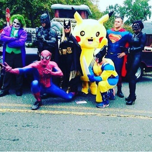 Spider Man,Joker,Batman,Cat Woman,Wolverine,Super Man ,Pikachu