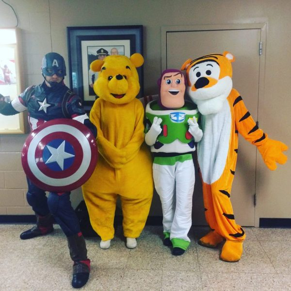 Captain America,winnie the pooh,Buzz light year, Tony the tiger